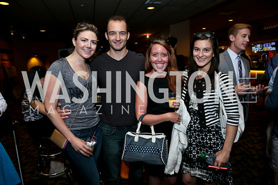 "Betsy Summers, Ben Cunis, Kimberly Rubens, Lia Metreveli. Photo by Tony Powell. ""What If"" Screening. E Street Cinema. July 30, 2014"