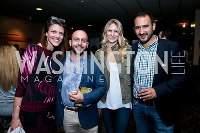 "Hallie Sherard, Beri Meric, Paige Speyer, Karim Chrobog. Photo by Tony Powell. ""What If"" Screening. E Street Cinema. July 30, 2014"
