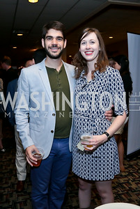 "Andrew Stein, Martha Staid. Photo by Tony Powell. ""What If"" Screening. E Street Cinema. July 30, 2014"