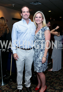 "David Anderson, Shannon Lyons. Photo by Tony Powell. ""What If"" Screening. E Street Cinema. July 30, 2014"