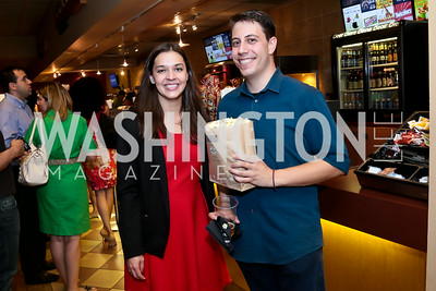"Katie Havlovic, Eric Schwartz. Photo by Tony Powell. ""What If"" Screening. E Street Cinema. July 30, 2014"