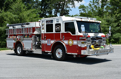 Stephens City, Virginia in Frederick County Engine 11 - a 2016 Pierce Velocity equipped with a 2000/1000/40A.  Pierce job number 30118.