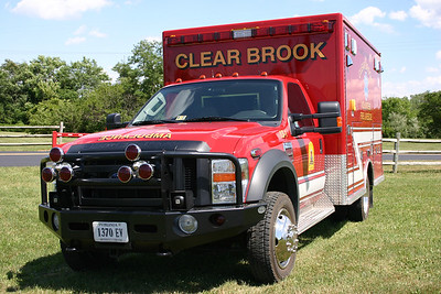 A better view of Clear Brook's dual Roto-Ray warning lights on their ambulance, which were later removed.