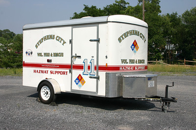The Stephens City HAZMAT Support trailer.