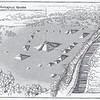 Artist's rendition of what the Winterville Mounds complex looked like