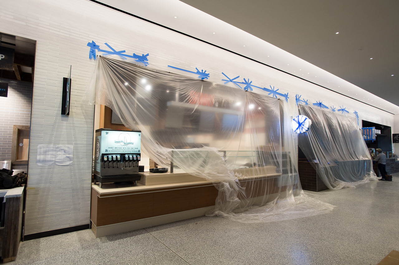 Work being performed at World Financial Center 225 liberty street Skinny Pizza