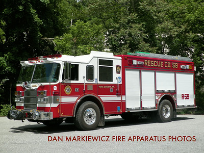 GLEN ROCK HOSE & LADDER CO, RESCUE 59 2000 PIERCE RESCUE