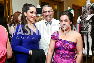 Maria, Enrique and Fabiola Valdez. Photo by Tony Powell. 2014 YOA Caribbean Spring Benefit. Four Seasons. April 4, 2014