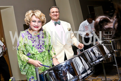 Hilda and Arturo Brillembourg. Photo by Tony Powell. 2014 YOA Caribbean Spring Benefit. Four Seasons. April 4, 2014