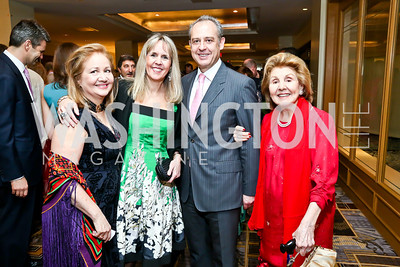 Elisabeth Brillembourg, Isabel Ernst, Arturo Sarukhan, Clara Brillembourg. Photo by Tony Powell. 2014 YOA Caribbean Spring Benefit. Four Seasons. April 4, 2014