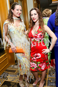 Fran Holuba, Anastasia Dellaccio. Photo by Tony Powell. 2014 YOA Caribbean Spring Benefit. Four Seasons. April 4, 2014