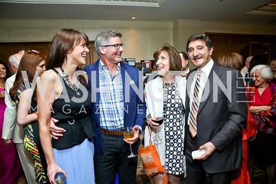 Hallie Sherard, Jason Kuller, Brandi and Salo Levinas. Photo by Tony Powell. 2014 YOA Caribbean Spring Benefit. Four Seasons. April 4, 2014