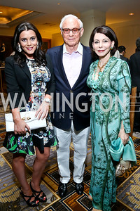Jaclyn, John and JoAnn Mason. Photo by Tony Powell. 2014 YOA Caribbean Spring Benefit. Four Seasons. April 4, 2014