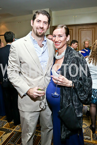 Marshall and Rachel Scallan. Photo by Tony Powell. 2014 YOA Caribbean Spring Benefit. Four Seasons. April 4, 2014