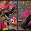 Tied some new steelhead patterns.  Steelhead love pink!  <br /> <br /> Wildwood, Oregon.  (2013)