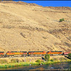 Train at Sunrise Along the Deschutes River