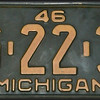 1946 Michigan License Plate
