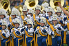 OCTOBER 19 - MORGANTOWN, WV: The Pride of West Virginia marching band performs prior to the Big 12 football game October 19, 2013 in Morgantown, WV.