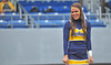 OCTOBER 19 - MORGANTOWN, WV: A WVU cheerleader performs prior to the Big 12 football game October 19, 2013 in Morgantown, WV.