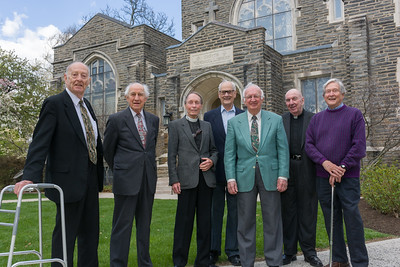 50th Anniversary Class of 1955,  R. Boyer, H. Weiss, Bill Fensterer, Ed Weiskotten, and Paul Buehrle, and (technically) Class of 1956, George Handley and Paul Bosch