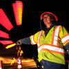 Colorado Department of Transportation workers Paul Guajardo, at right, and Mark Petersen directs traffic at a roadblock on Monday, March 3, near the intersection of St. Vrain Road and U.S. Highway 36 in Boulder County. The highway was closed due to a fatal car accident.Jeremy Papasso/ Camera