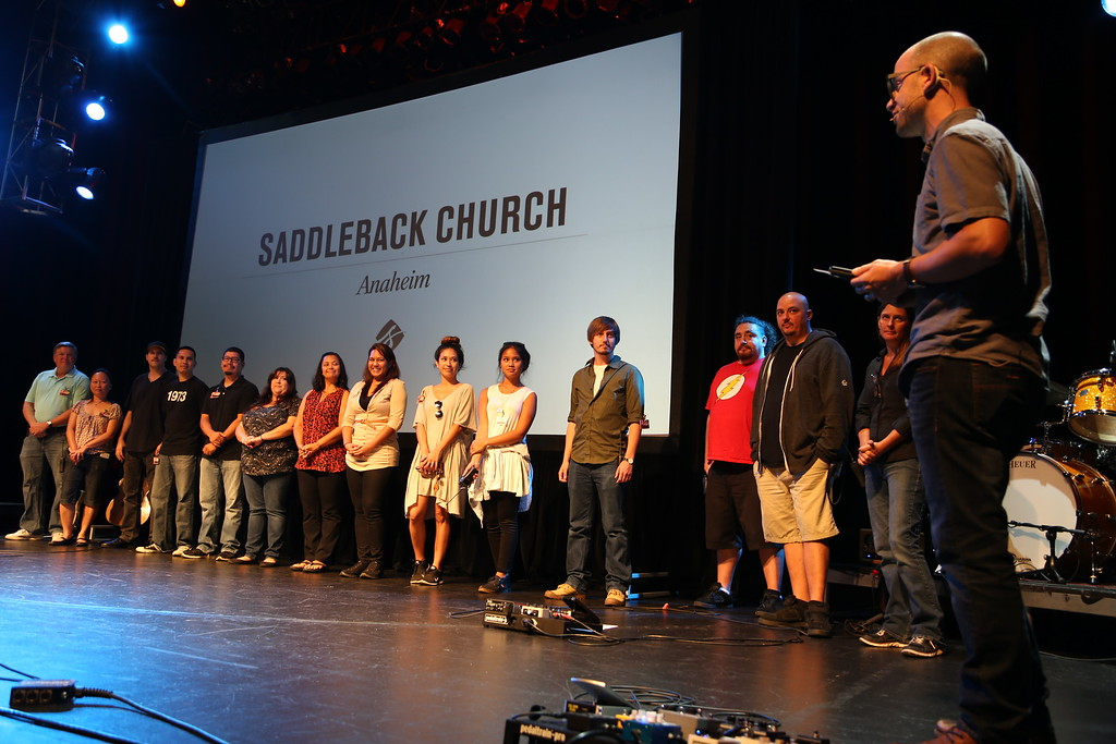 2015-07-26 Our Last Sunday at the Grove of Anaheim The Grove Staff Being Acknowledged