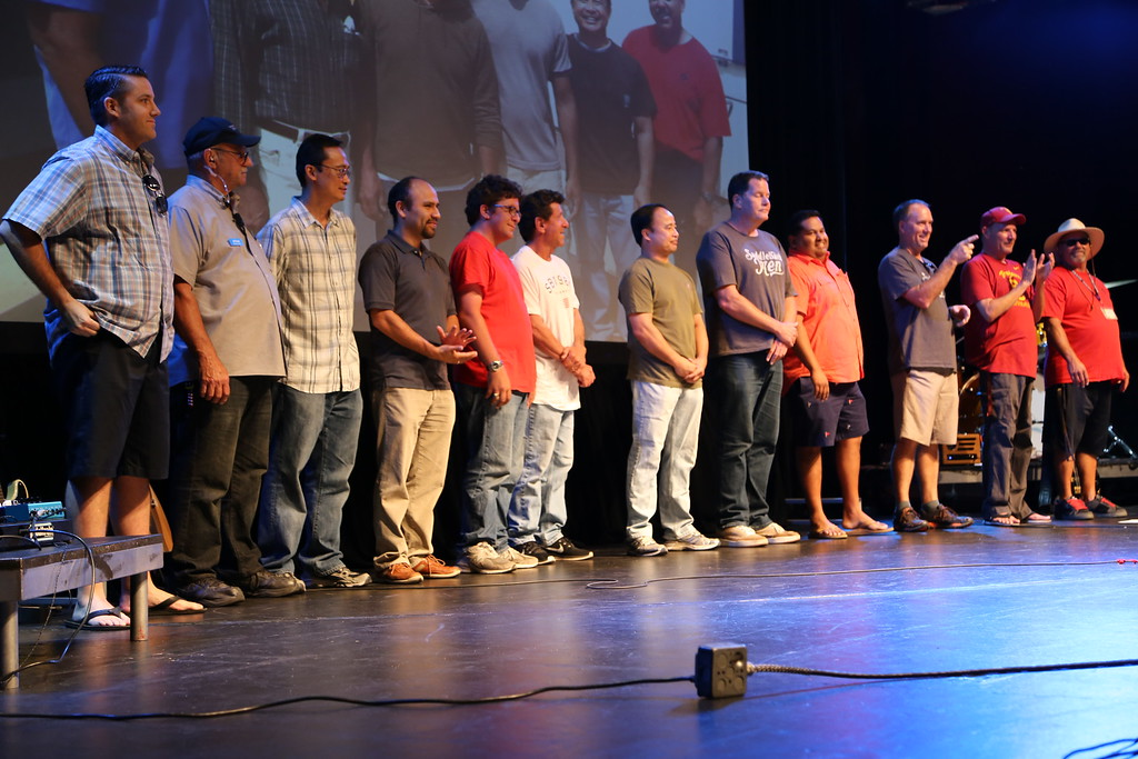 2015-07-26 Our Last Sunday at the Grove of Anaheim The Set-up and Tear-Down Teams being Acknowledged