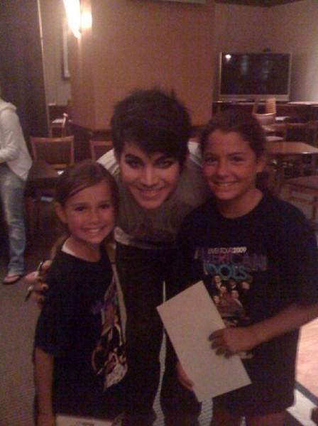 Mark Veverka @markveverka  Stumbled across this. Frankie with Adam Lambert from several years ago http://fb.me/87SQevfCn