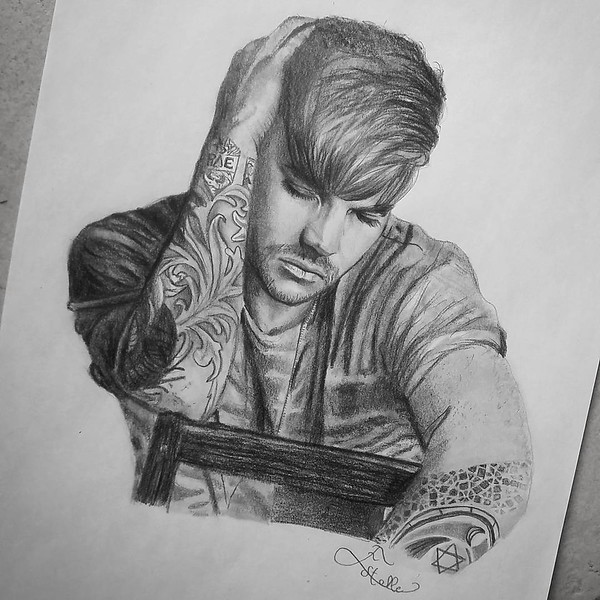 💖❤ adamlambert_drawingsThis drawing is done !!! ✏ For the most charming man of all the time : @adamlambert !Hope you see it Adam, as always it's made with a lot of love... you are a truth inspiration for me!💖❤