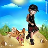 🍃 Runyon 🐕 creativesharka Chibi @adamlambert with Pharaoh