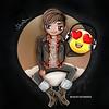 """😍 Adam Lambert chibi by @creativesharka  """"NEW MUSIC"""" 🎧"""