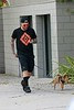 🐕 (◕‿◕✿)  Adam Lambert walking Pharaoh 4/24 TY @_coma_berenices