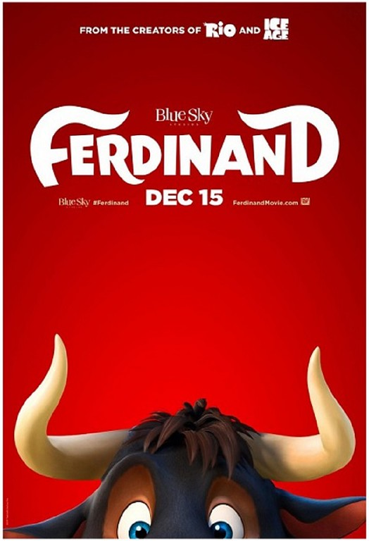 "it will follow the little bull which prefers sitting quietly under a tree just smelling the flowers instead of butting heads with other bulls. As Ferdinand grows big and strong, his temperament remains mellow, but one day five men come to choose the ""biggest, fastest, roughest bull"" for the bullfights in Madrid and Ferdinand is mistakenly chosen. The movie will feature hits from Adam Lambert, Shakira, Rihanna."