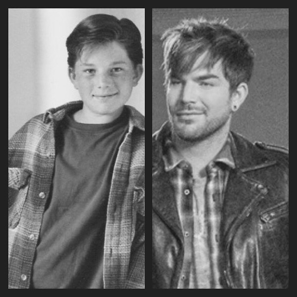 Kathleen Wimpelberg @Jaksox  Some things don't change; you just add a little leather! Adam Lambert: Plaid Shirts Then & Now.