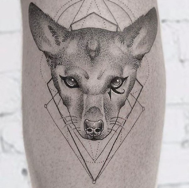 "ᕙღʕ ᵔᴥᵔ ʔღᕗ  Adam Lambert:  ""A tribute to Pharaoh on my calf--- tattoo by the BRILLIANT @dasleitbild . Thank you Daniel!"""