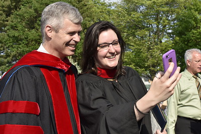 President David Lose and a graduate