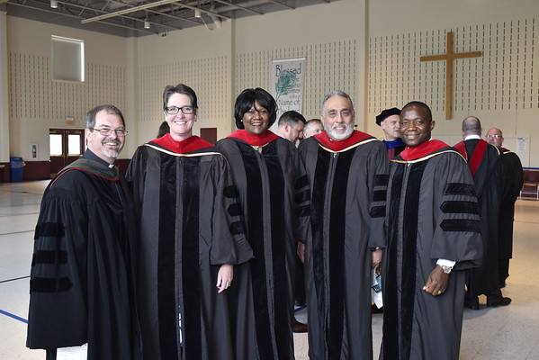 DMin Graduates with with the Rev. Dr. David D. Grafton
