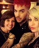 adamlambert Little throwback from last weeks Hollywood Bowl shows: my gorgeous mom and the beautiful @daniellestori