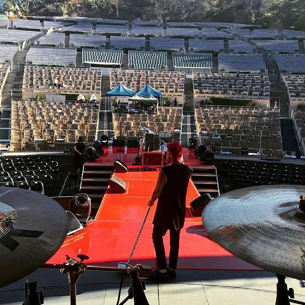 adamlambert  Soundcheck at the Bowl
