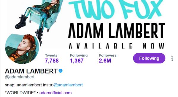💙🦄Adam Lambert's Twitter design #TwoFux