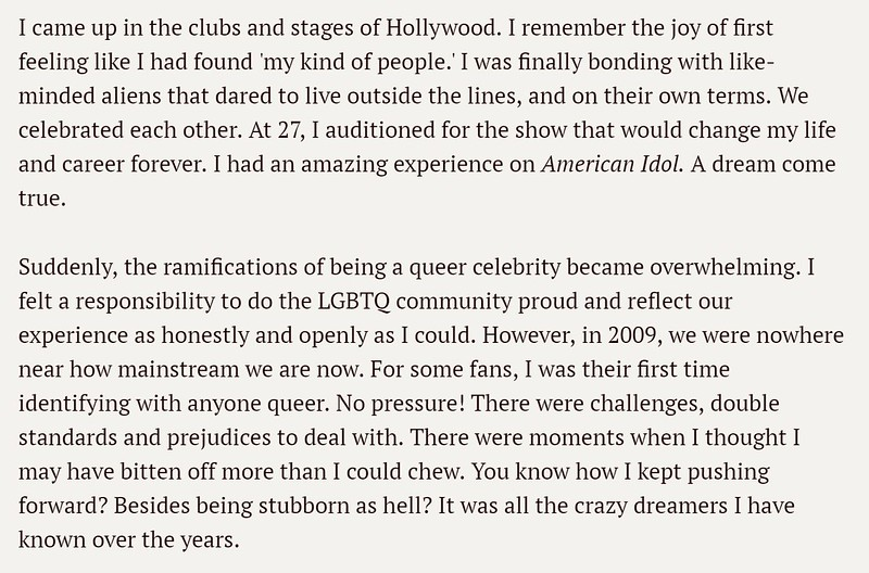 BILLBOARD: Adam Lambert: Love Letter to the LGBTQ Community