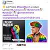 ✊ LA Pride's #ResistMarch w Adam Lambert #LoveisLove #pridemonth #pride2017 @creativesharka