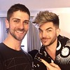 ✨💜✨ Adam Lambert got his floofy hair cut in Soho. NYC  by PeterCorvington at SpokeandWeal.  Enhanced pic