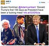 NME‏ @NME  Queen frontman @AdamLambert: 'Donald Trump's first 100 days as President have been a fucking mess'