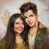 💫💓💫  Adam Lambert & his Mom Leila fanart by OlenaZ @Olambertik