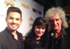 "Cropped Pic<br /> <br /> Pauley Perrette ‏@PauleyP<br /> <br /> Me and beloved @adamlambert and :faint: @DrBrianMay QUEEN!<br /> <br /> <a href=""https://twitter.com/PauleyP/status/529918740918325249"">https://twitter.com/PauleyP/status/529918740918325249</a>"