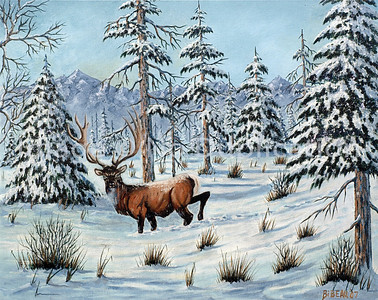 WILFRED BIBEAU, SNOW SERIES Paintings- West Duluth Artist in Oils