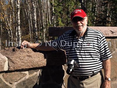 "2010 Photo of Wilfred Bibeau along the ""Seven Bridges Road"" in Duluth, Minnesota"