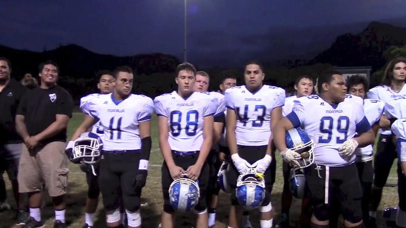 MoHS Varsity Boys Football vs Kailua 2014