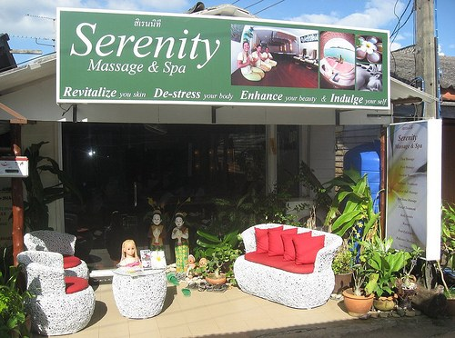 Front of Serentiy Massage and Spa